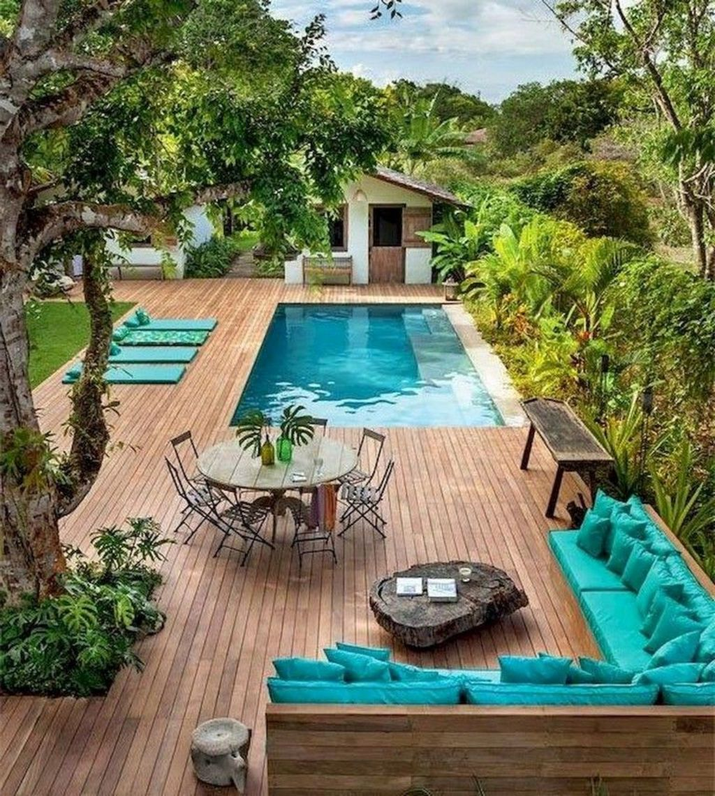 Inground tiny swimming pool in a small backyard that pick the best shape Part 16