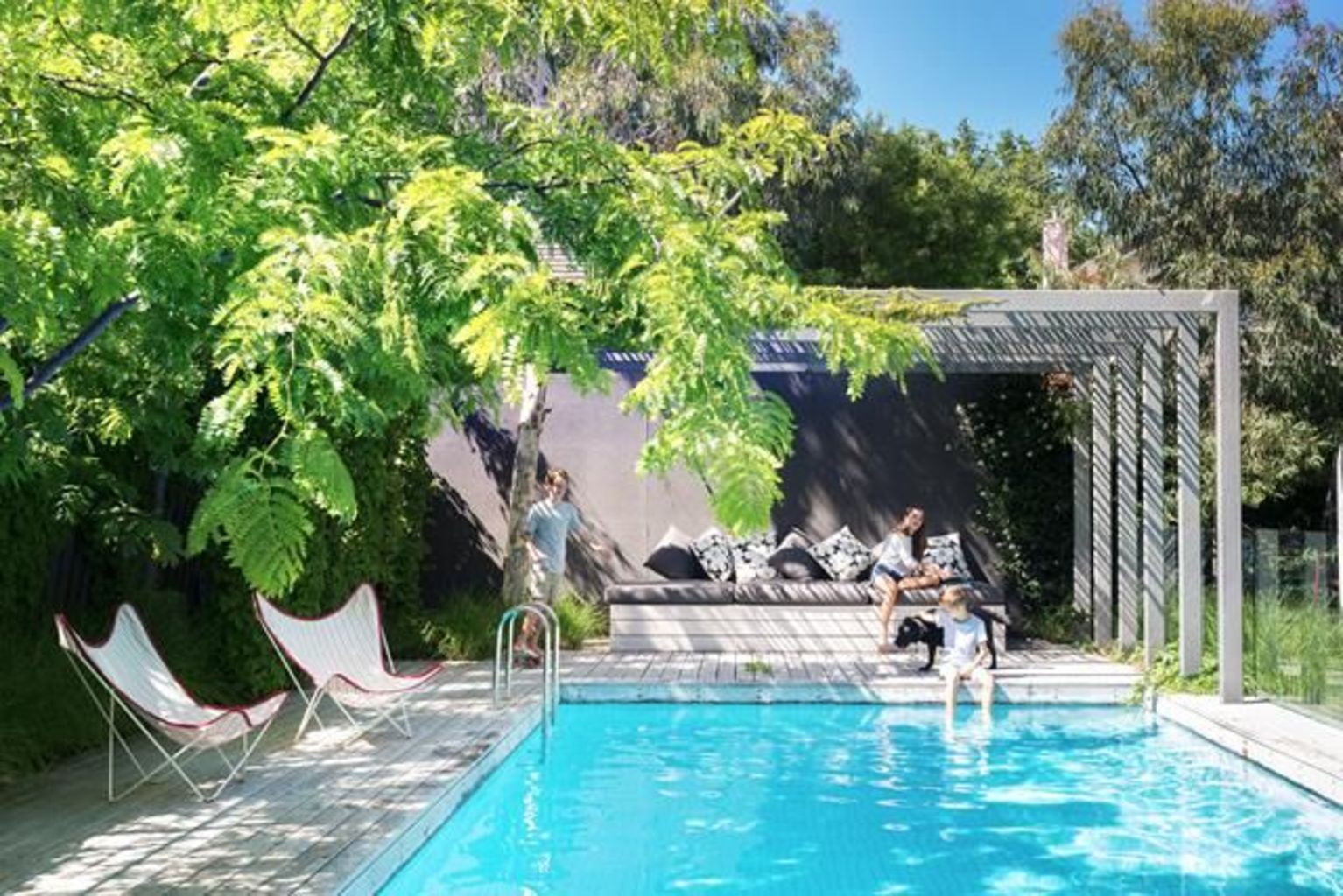 Inground tiny swimming pool in a small backyard that pick the best shape Part 6