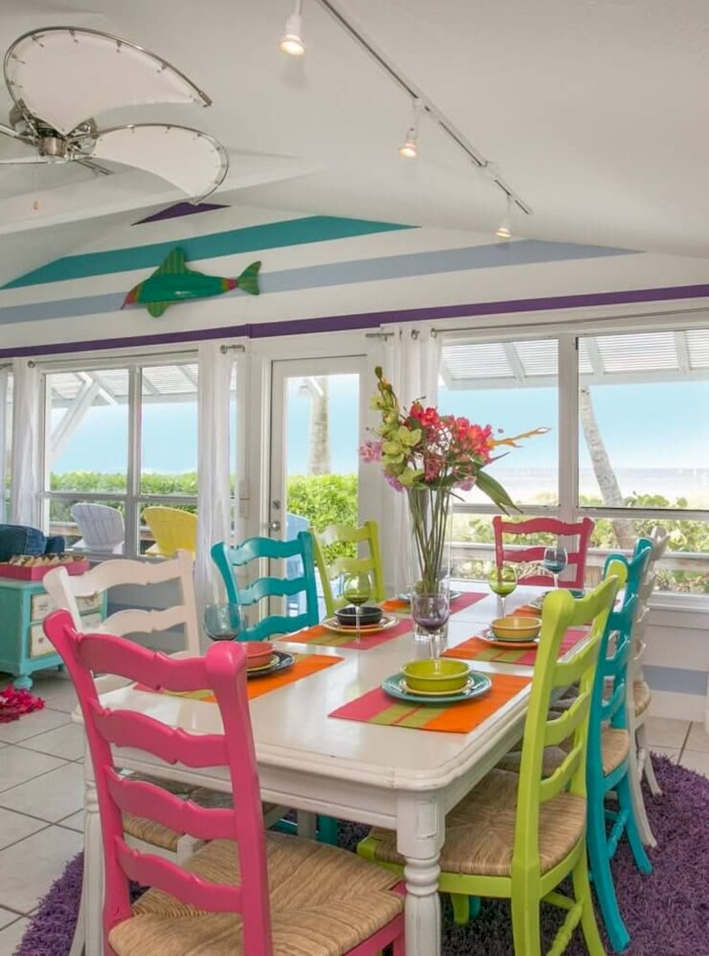 Beach home dining room style giving a fresh vibe among inviting recreational interior update Image 1