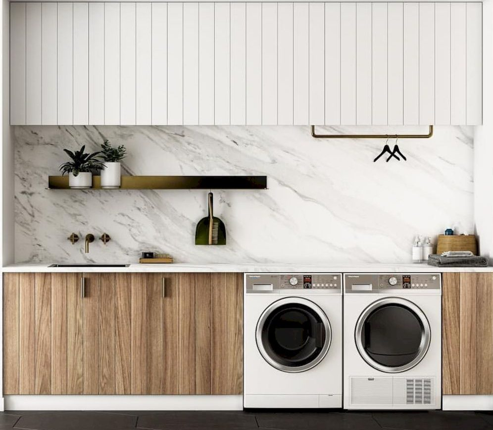 Classy laundry room update with first class finishing to make a functional room that looks elegant and stylish Image 8