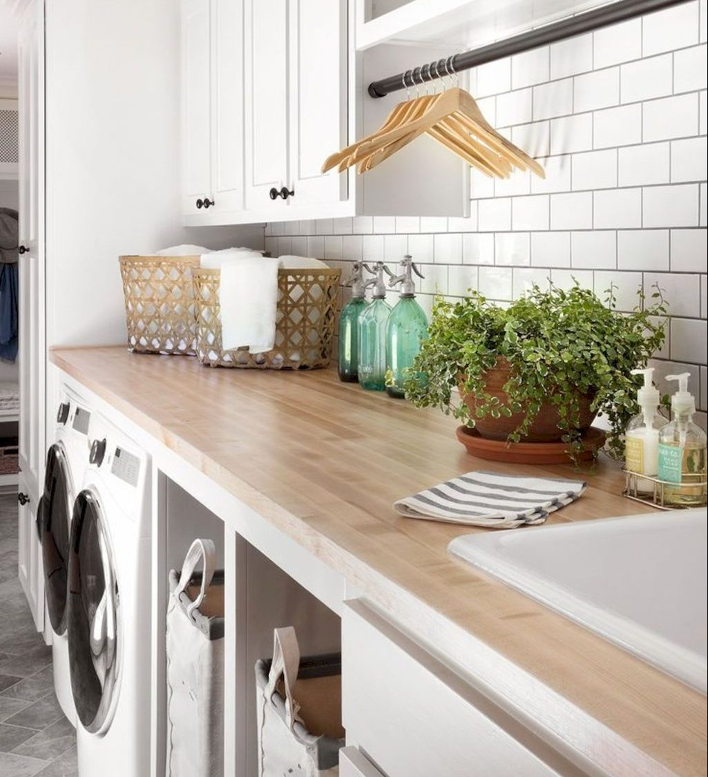 Easy tricks to make a Scandinavian style laundry room which will give a perfect refreshment in simple and sleek designs Image 15