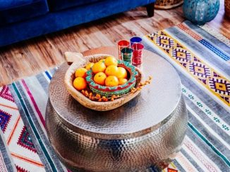 Beautiful Bohemian living style displaying artsy rug designs with exotic pattern Image 43
